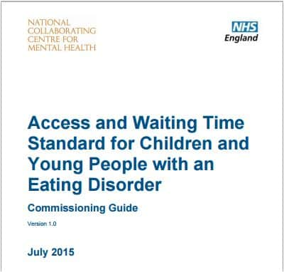 NHS England Eating disorders children commissioning guide 2015